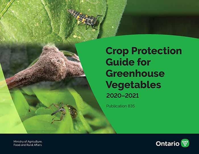Publication 835, Crop Protection Guide for Greenhouse Vegetables
