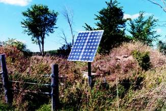 Figure 3: This figure shows a single solar panel in a rural area