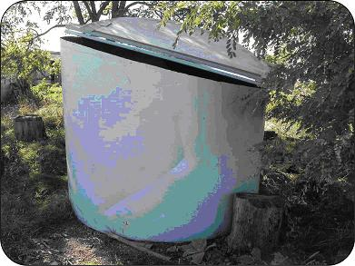 In-vessel composting system.
