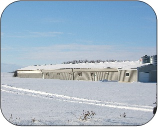 Winter weather conditions can put stress on farm buildings and structures.