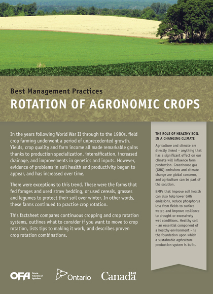 Rotation of Agronomic Crops