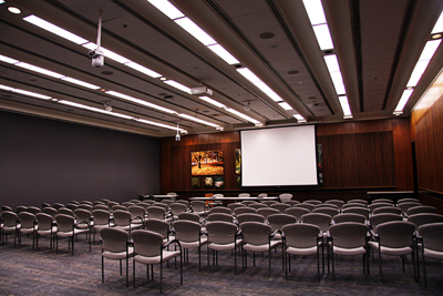 Photo of a conference room before  the guests arrive